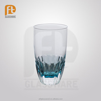 PFT good quality colored bottom fancy beer/water drinking glass