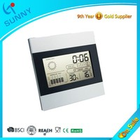 Sunny Ultronic Weather Station Digital Weight Calendar Promotional Desk Clock