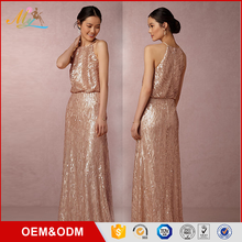 NEW ARRIVAL Elegant sequin Bridesmaid Dresses Long prom dress