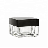 Skin Care Clear Back Empty Face Eye Airless Square Mason Cream Cosmetic Acrylic Jar