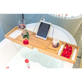 Cheap Bathtub Caddy Tray Bamboo Organizer with Extending Sides