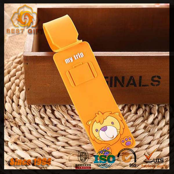 Custom shape animal pvc silicone luggage tag
