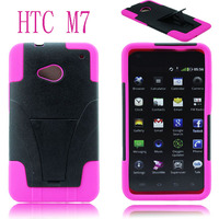 bracket robot pc and silicon bumper case for htc one m7