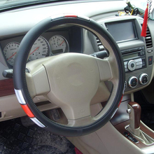 Universal Type Clear Plastic Hand-Stitched Steering Wheel Cover