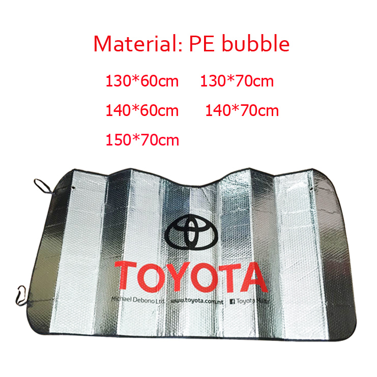Promotion double circles tyvek folding car sunshades for front window
