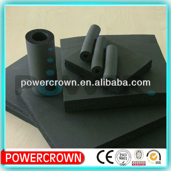 Made in china foam rubber insulation cold and heat resistant material