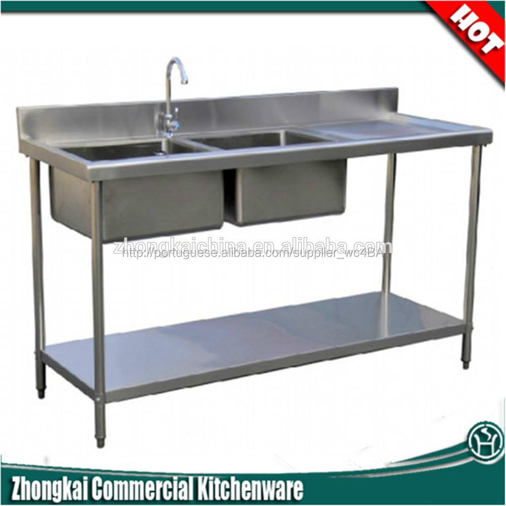 fábrica de aço inox pia de cozinha de mesaPias para cozinhaID do produto90 # Wasbak Hubo_211648