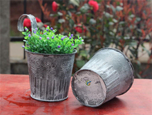 Metal outdoor garden planters