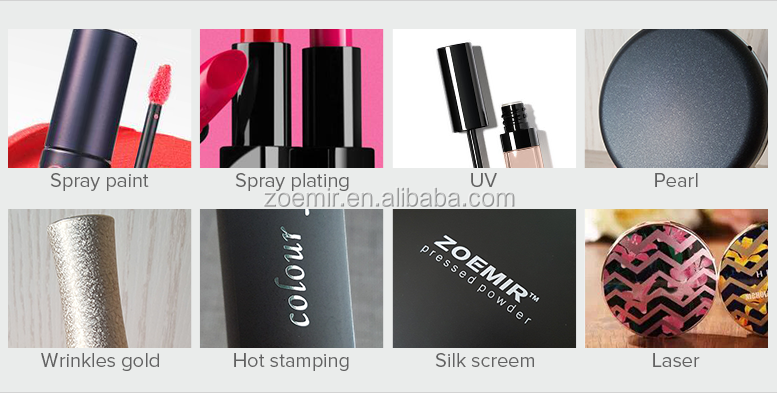 new design cosmetic AS bottle customized empty lipgloss case aluminum cap