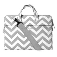 Wholesale Unisex Laptop Cases Bag Brand Chevron Laptop Bag Canvas Notebook Shoulder Laptop Bags Case For Macbook Air/Pro/Asus
