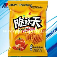 Colorful inflatable pe film packaging bag for tomato chips