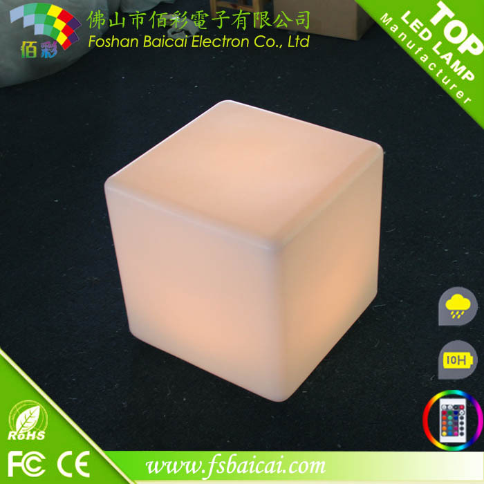 remote control rechargable battery waterproof IP 65 led cube lighting cube