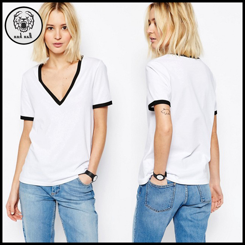 List Manufacturers Of White Custom V Neck Shirts Buy