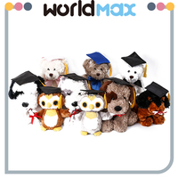 New Products And Happy Animal With Doctorial Hat Lovely Baby Stuffed Toy