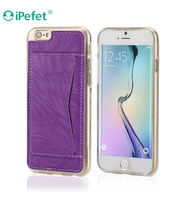 Wholesale leather wallet cell phone case for iPhone6
