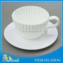 Wholesale food grade microwave safe new design silicone teacup cupcake molds