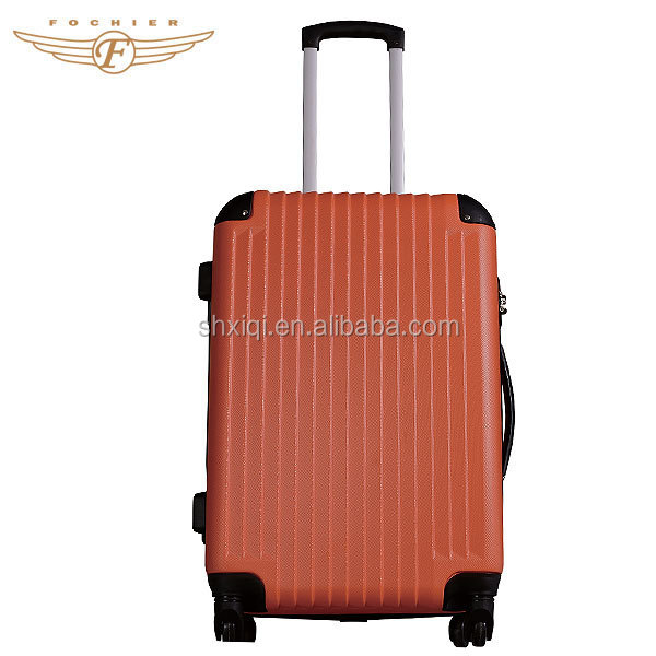 High Quality ABS Orange Travel Trolley Suitcase For Girls