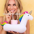 Cheap Price Plastic PVC Inflatable Unicorn Design Drink Beer Can Holder Pool Floating Festive Event & Party Supplies