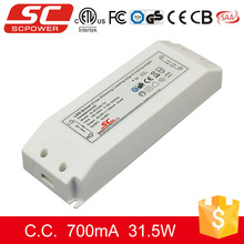 SC LED driver 30W 700mA 27-45V Triac dimmable constant current 700ma led power supply with TUV CE RoHS certificate