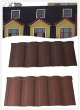 Ceramic Coated Stone Granules Coated Aluminum-Zinc Alloy Coating Steel Roofing Tiles Roman 1280*420mm/Terracotta