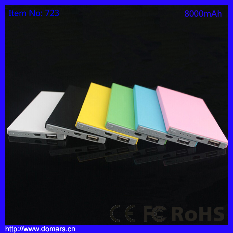 ABS Portable 8000mAh Dual USB Mobile Battery Charger Power Bank for Vivo