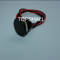 12mm anodized black momentary metal piezo switch with wire