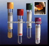 vacuum blood collecting tubes (gel and clot activator tubes)