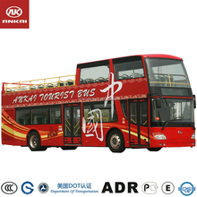 Anlai High Quality double decker luxury bus open top for sale