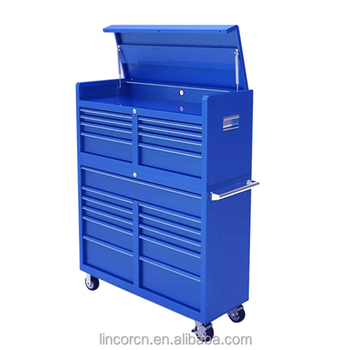 LC4619IBU 46 Inches hot sale steel Blue large Metal used craftman tool storage chest cabinet