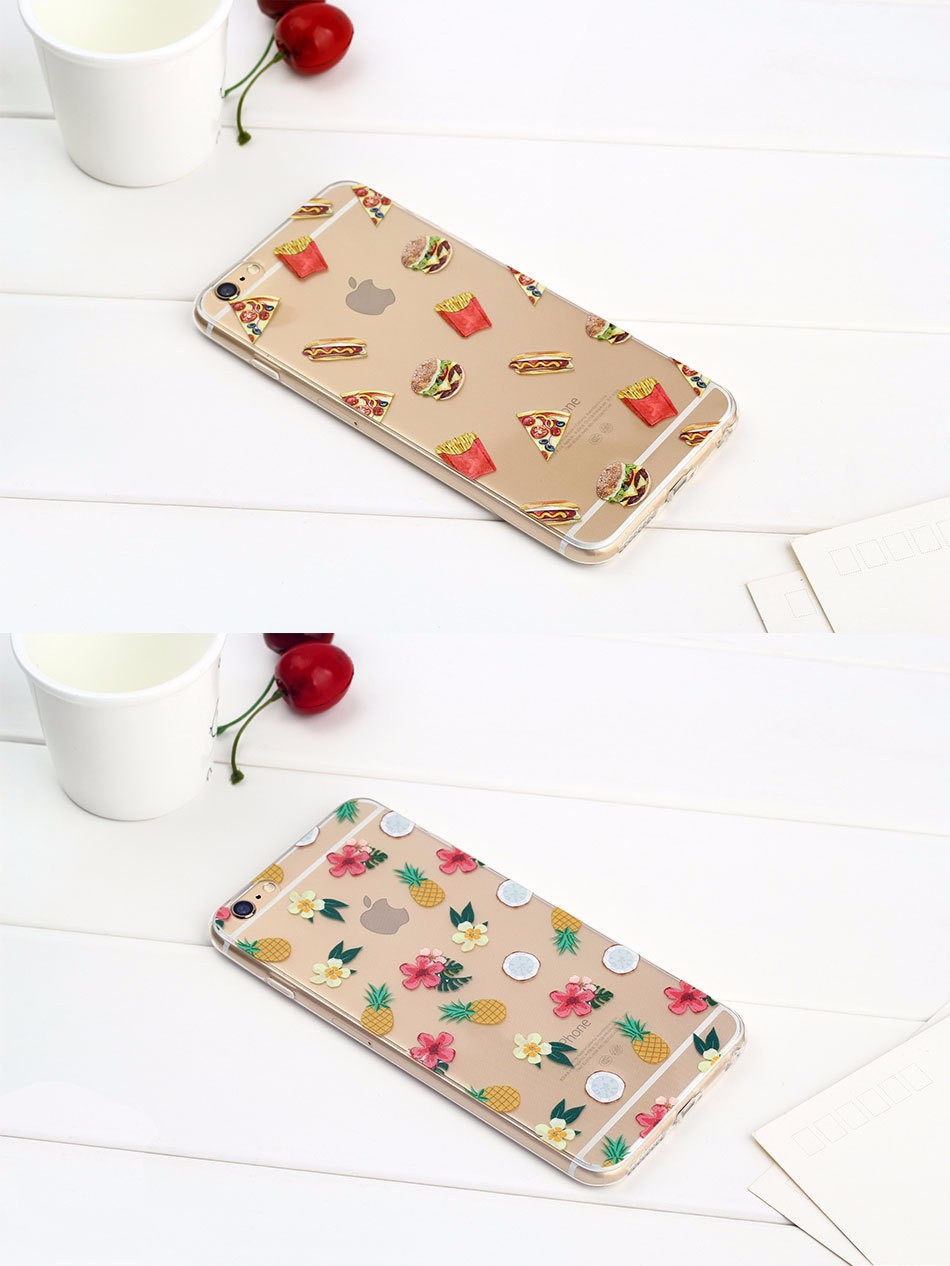 2016 hot sales soft TPU coloured printing mobile case for iphone7/7Plus