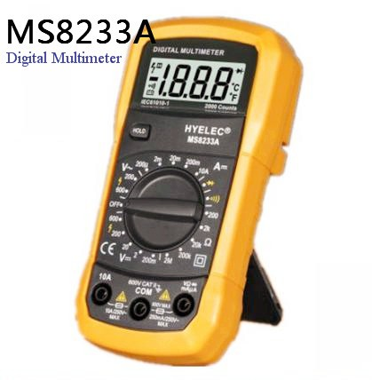 MS8233A Chinese 2000 Counts Mini Portable Digital Multimeter With Diode Test CE RoHS