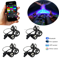 4pcs 3 x 3w marine waterproof 12v surface mount underwater boat led lights with bluetooth controller