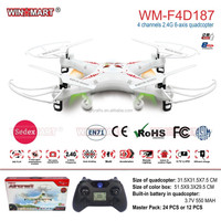 WM-F4D187 2.4Ghz 4ch 6 Axis gyro rc hobby quadcopter