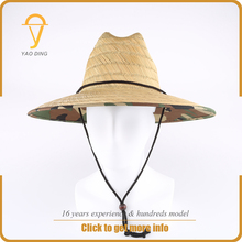 Wholesale promotional mexican sombrero paper straw wide flat brim chinese farmers hat