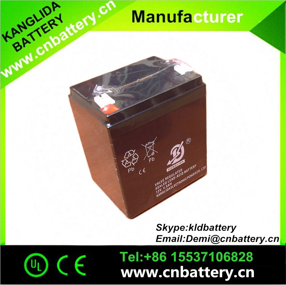 2016 KANGLIDA battery, vrla long serve life batteries 12v 4.5ah