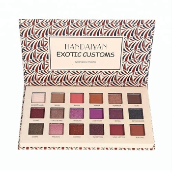 HANDAIYAN Factory Price Highly Pigmented Professional 18 Colors Eyeshadow Palette with High-end