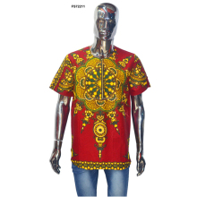 Best Quality African Bright Dashiki Short Sleeve Cotton T Shirts for men