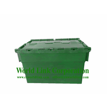 70L Storage Stackable Plastic Rolling Tote Box