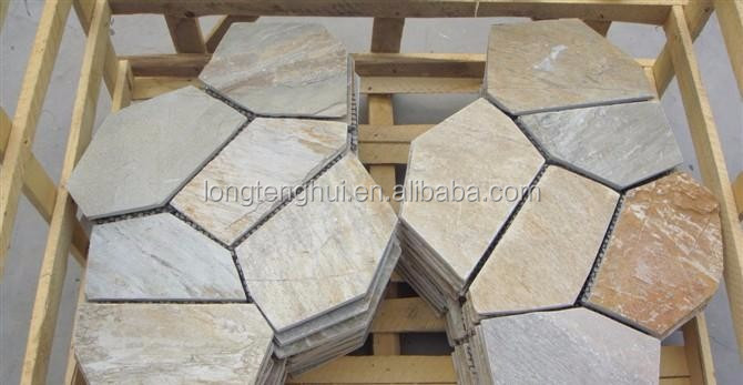 Hot Sale Natural Meshed flagstone mat stone tile