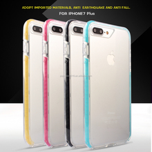 High quality Transparent Cellphone Case with colorful silicone for I Phone 7 and I Phone 7 Plus
