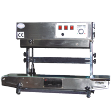 SF150 Continuous band sealer Vertical double use plastic Film bag Sealing Machine selladora de bolsa plactica