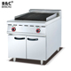 Free Standing Commercial Used Barbecue Lava Rock Grill With Cabinet