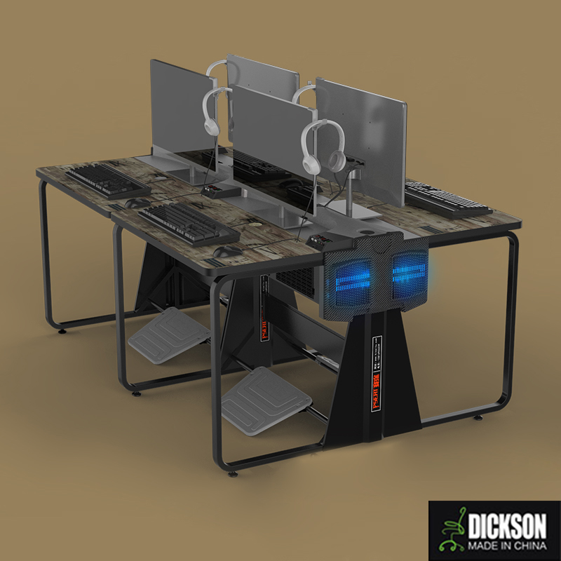 Dickson classical compassion design computer desk for cyber cafe