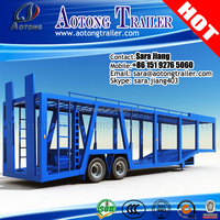 3 Axles semi trailer car carrier transport truck trailer for sale