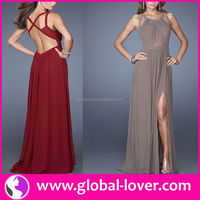 2015 high top quality faction evening dress