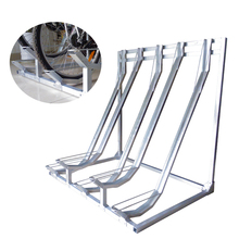 Semi Vertical Galvanized Bike Storage Rack