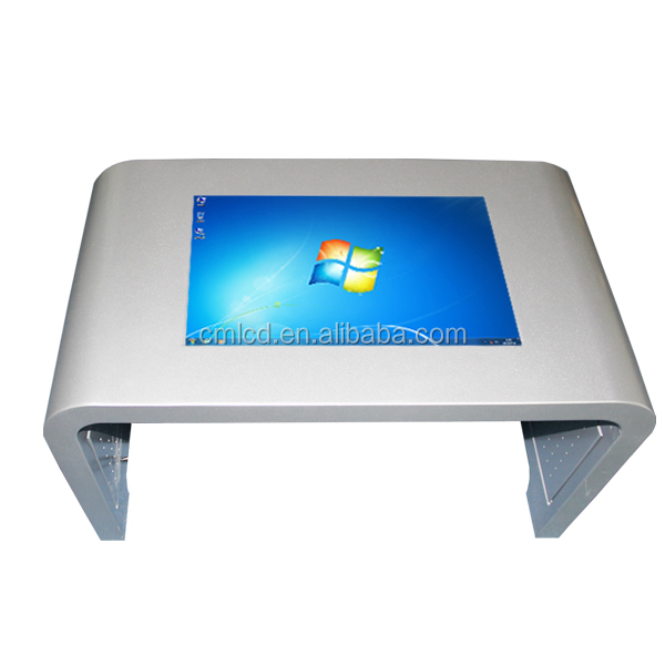 3g wifi full hd free stand kiosk table touch screen---32inch