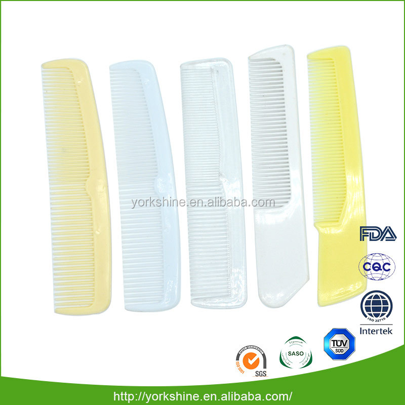 Worldwide convenient hair plastic hotel comb small for travel and hotel with packed in opp bag or customized