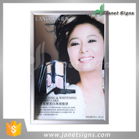 Alibaba Shanghai factory A4 snap frame led slim light box for indoor display