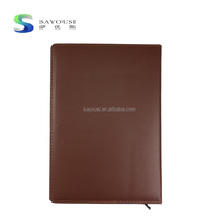 Promotion Printing Colorful Custom Recycled travelvers A5/A6 PU leather Notebook With Pen